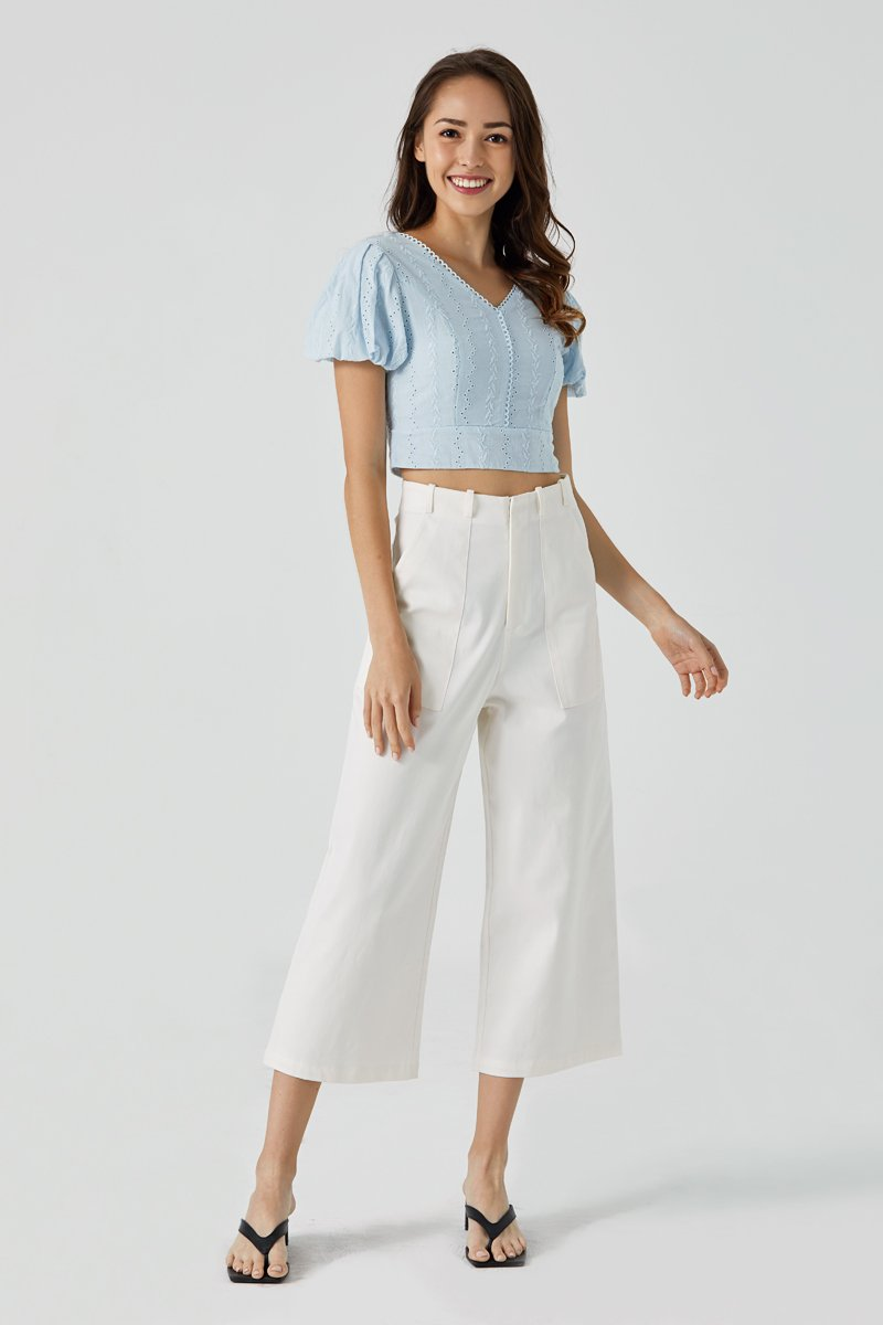 Lora Wide Leg Pants Ivory