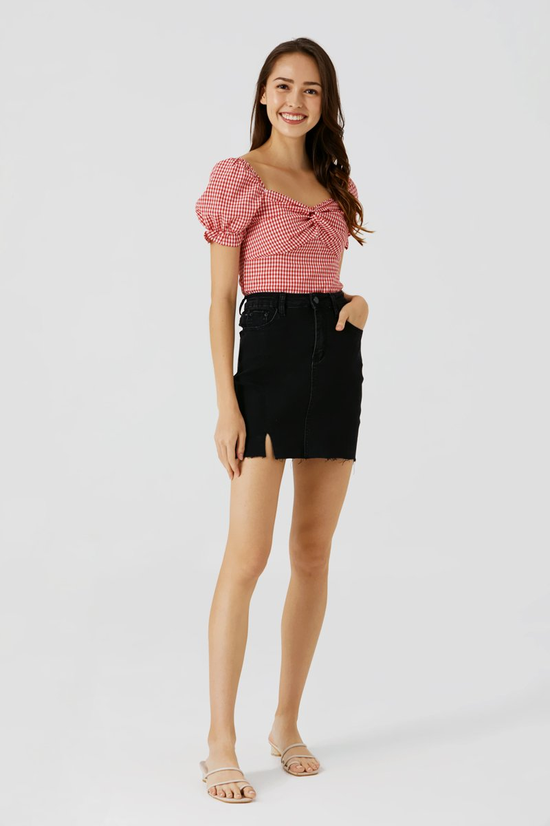 Seraphina Twist Front Top Ruby