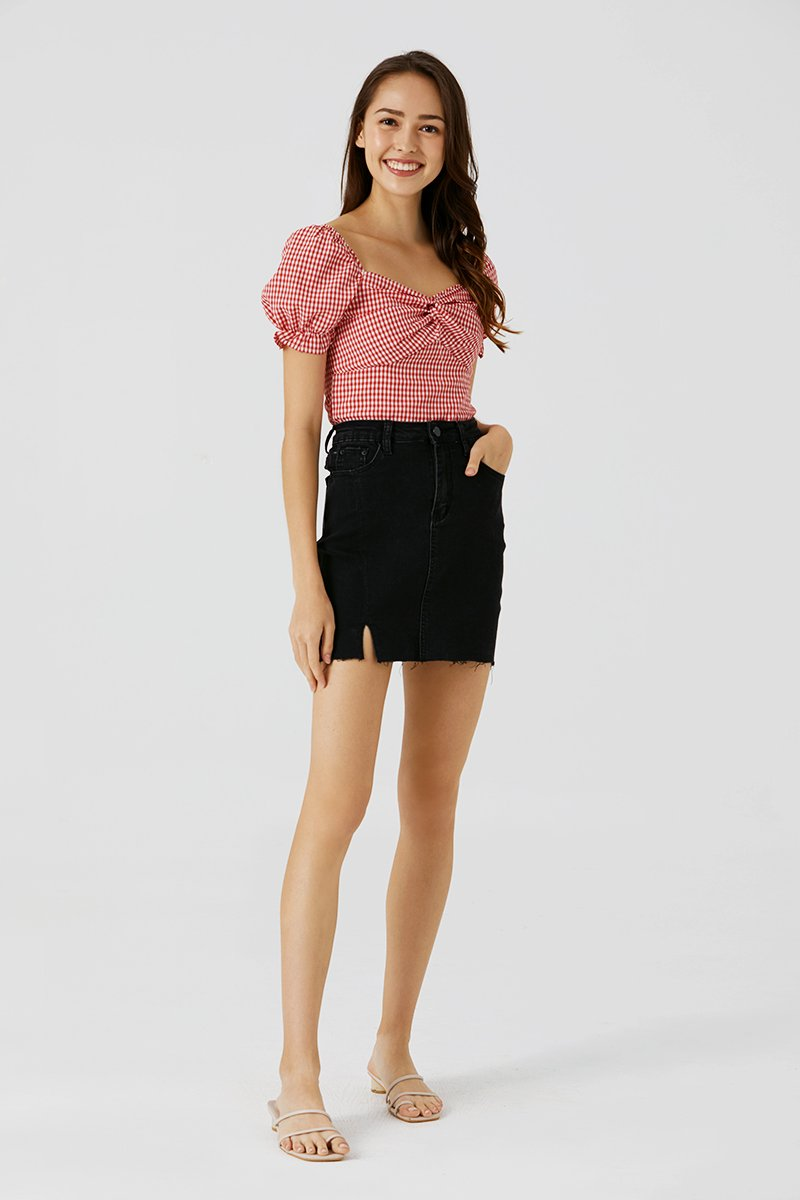 Alena Denim Skirt Black