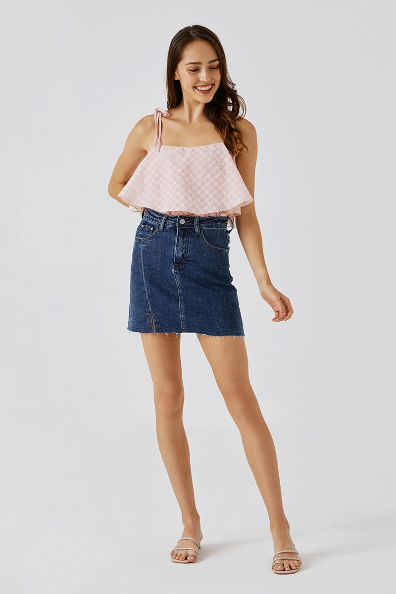Alena Denim Skirt Dark Wash