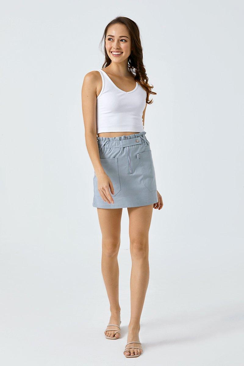 Edie Paperbag Skirt Sky