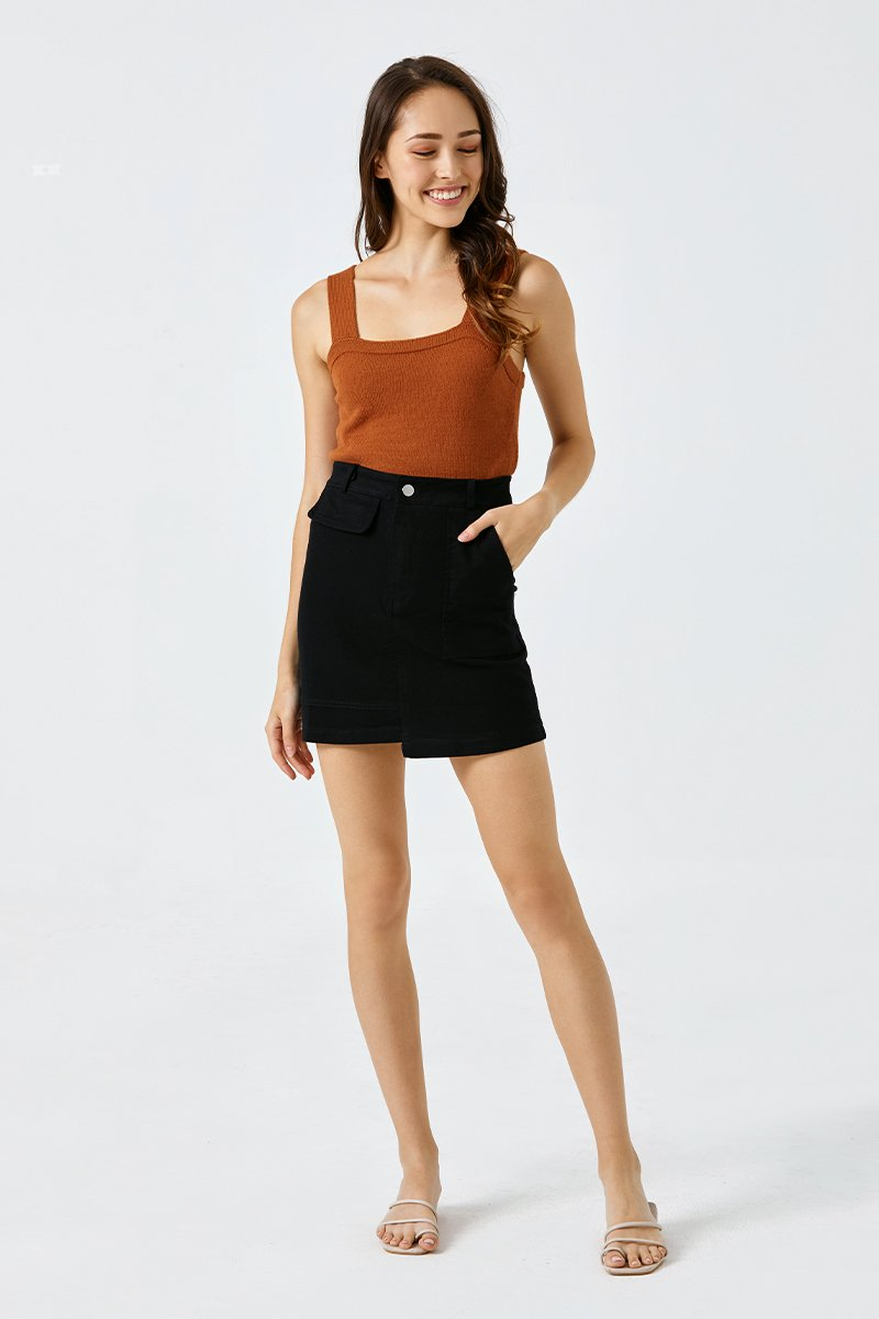 Constance Knit Top Rust
