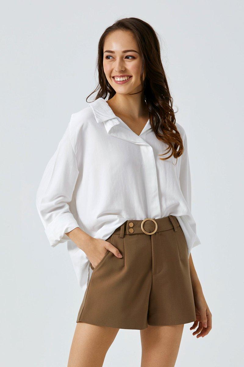 Lucinda Belted Shorts Caramel