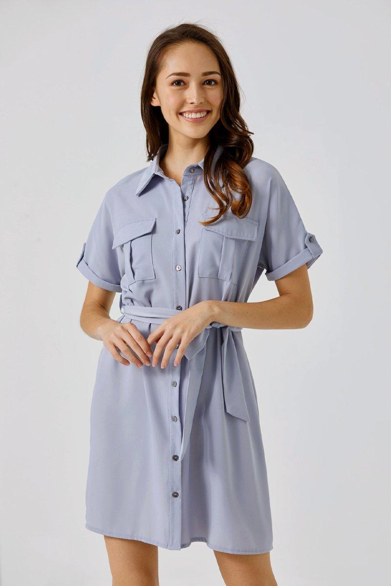 Deloria Dress Shirt Sky