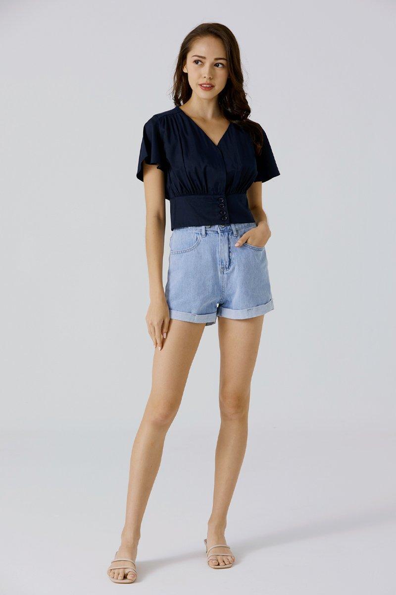Zoella Denim Shorts Light Wash