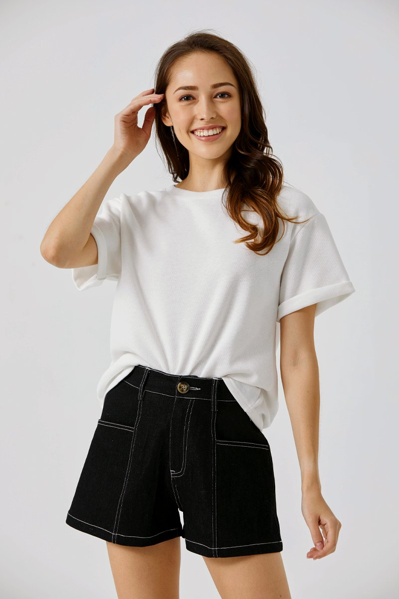Beatrice Oversized T-Shirt Ivory