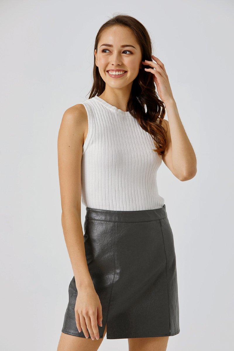 Ashe Knitted Vest Ivory