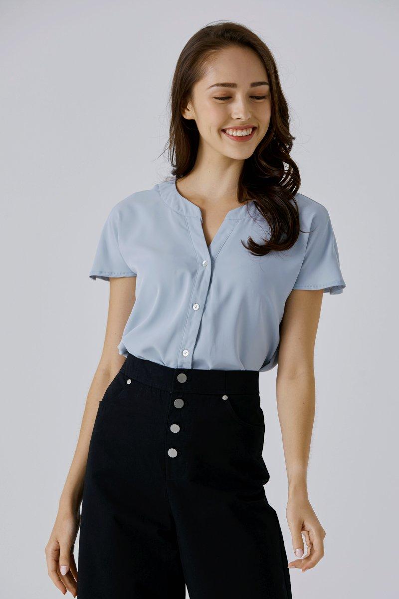 Adaline Button Up Shirt Sky