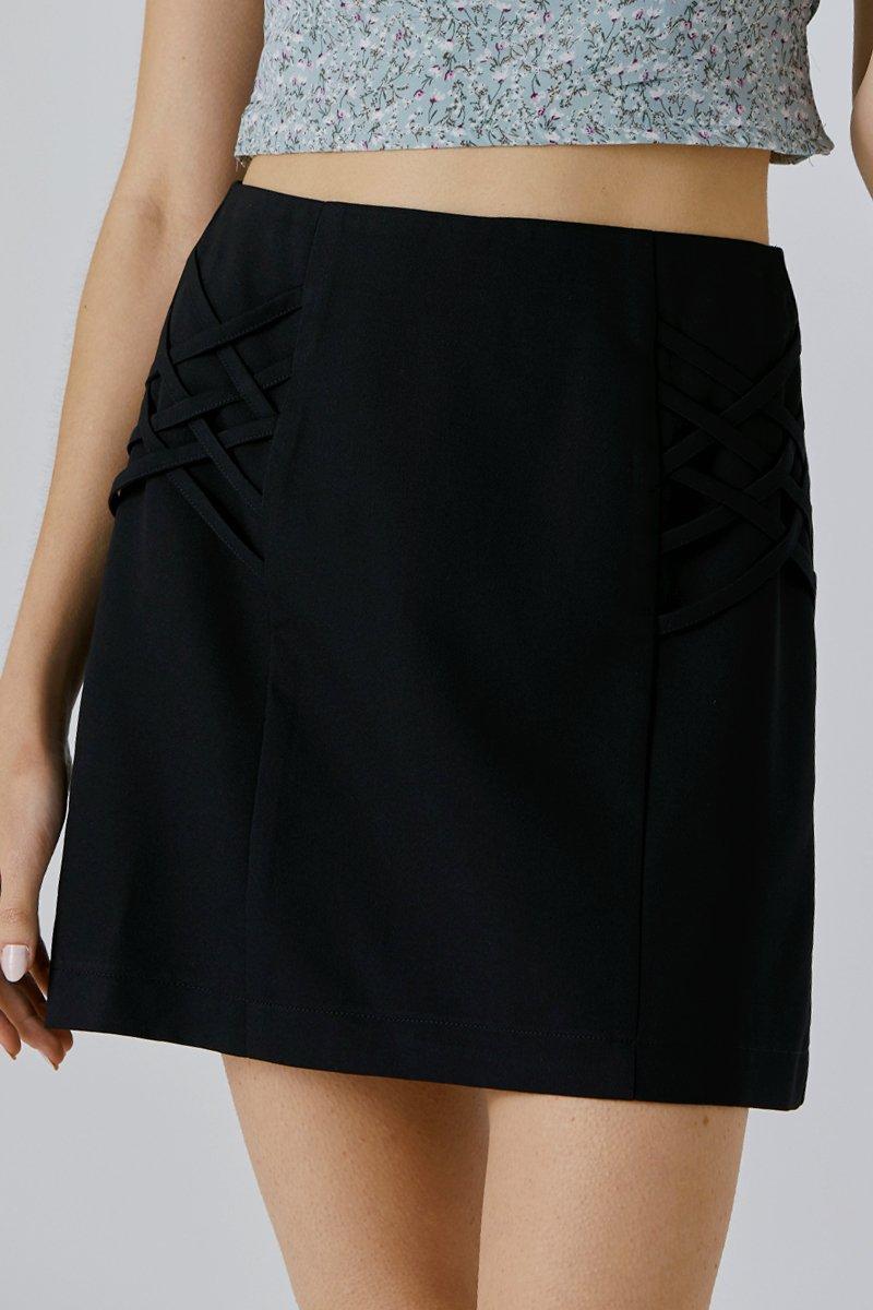 Chiara A-line Skirt Black