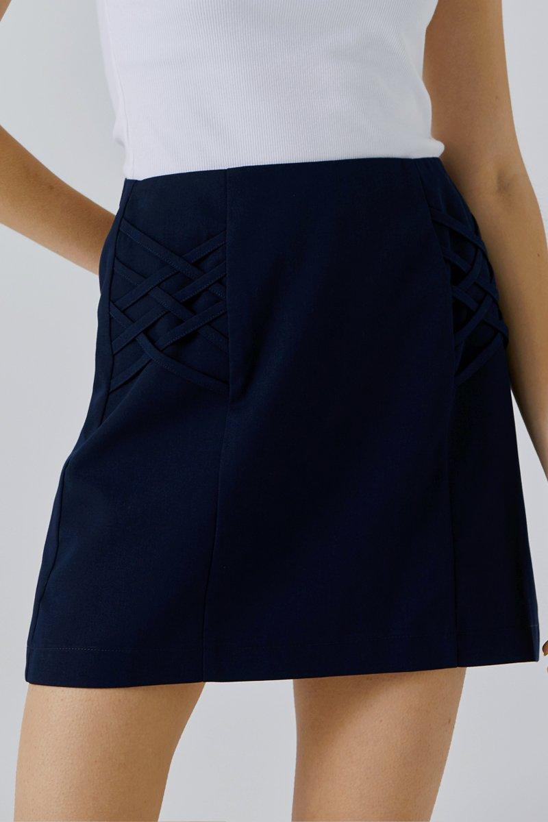 Chiara A-line Skirt Midnight