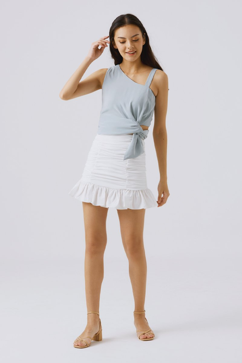 Fay Ruched Skirt Ivory