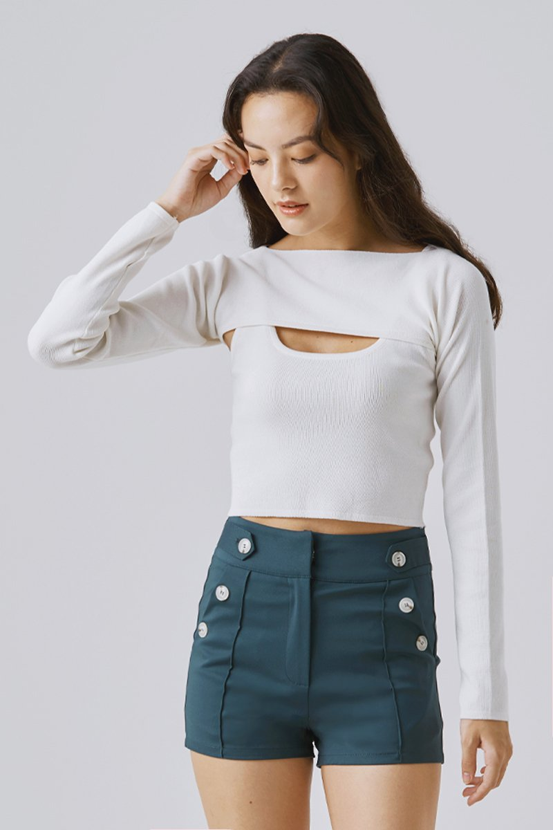 Sherry Two Piece Top Ivory