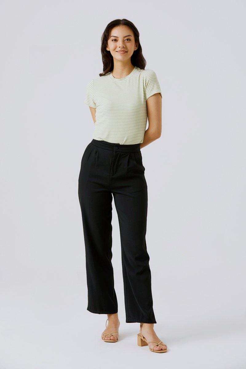 Larisa Side Slit Pants Black