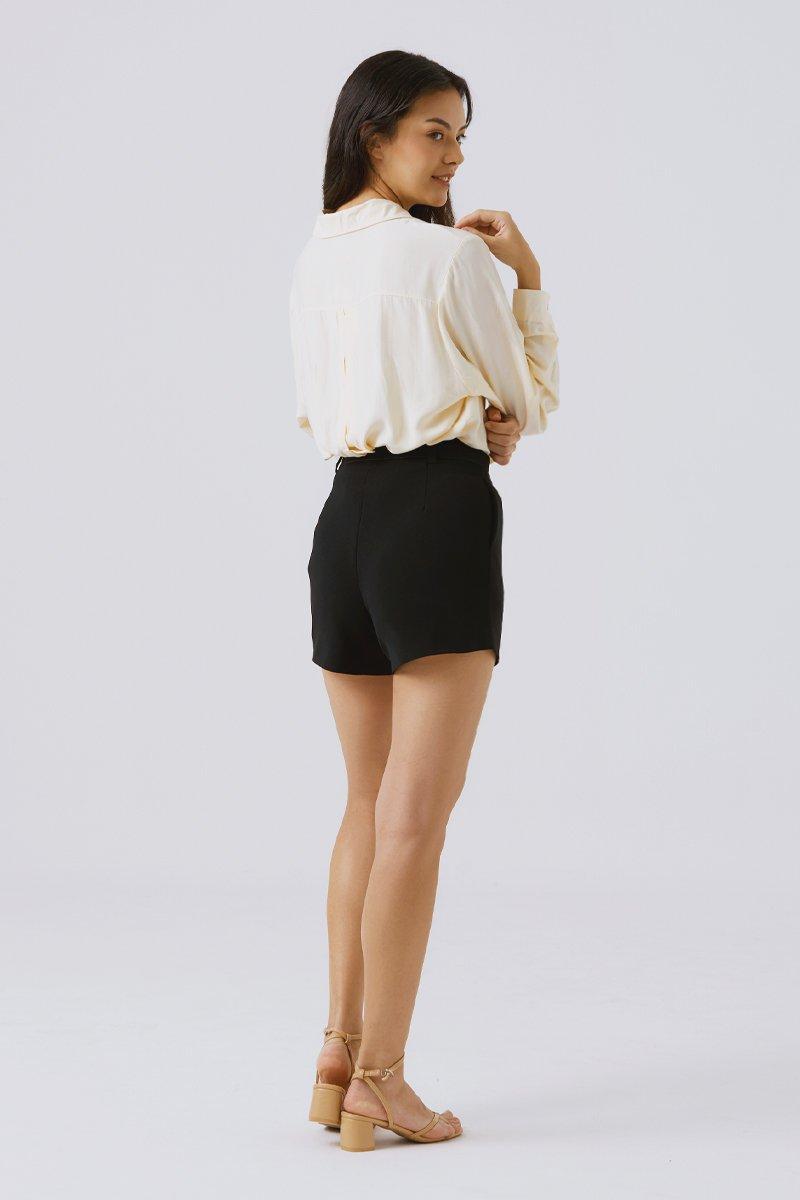 Arianna Geometric Shorts Black