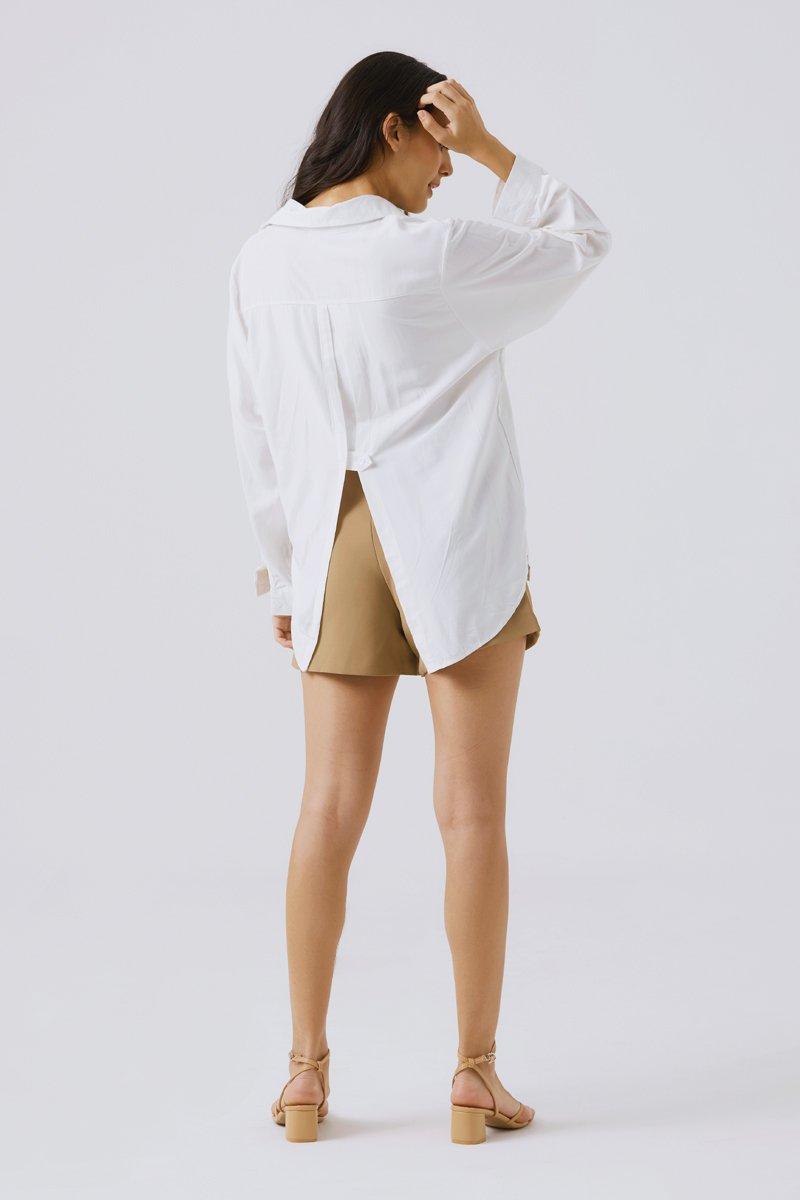 Arianna Geometric Shorts Caramel