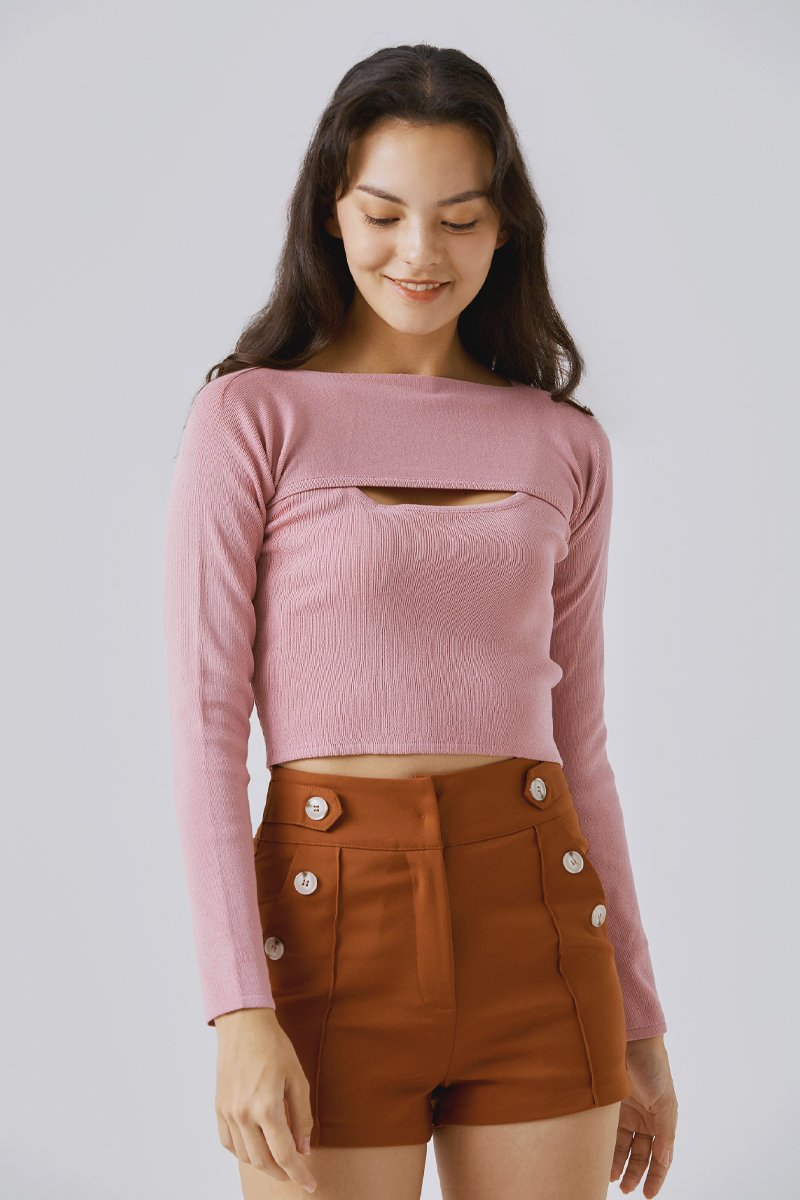 Sherry Two Piece Top Blush