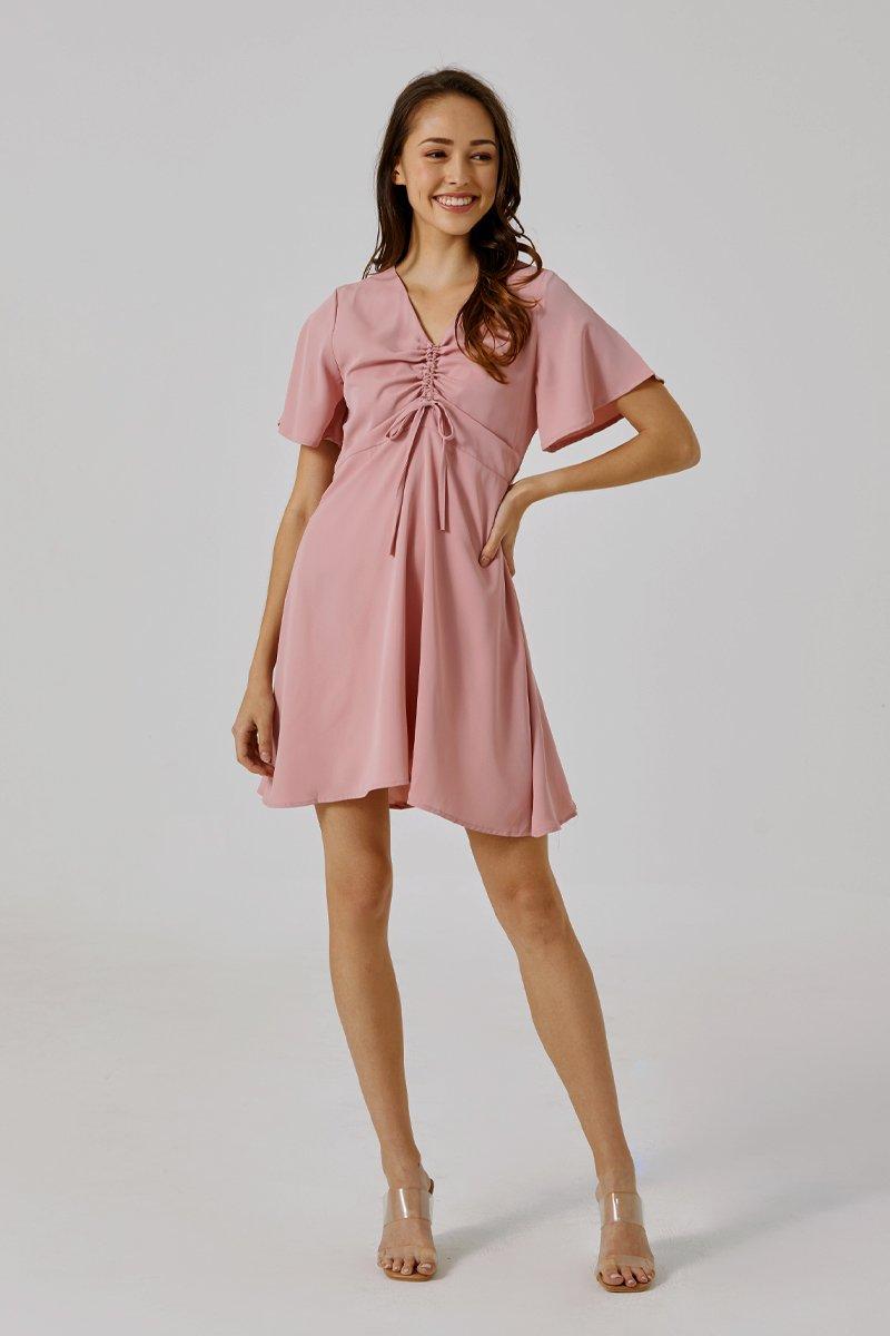 Adanya Ruched Dress Blush