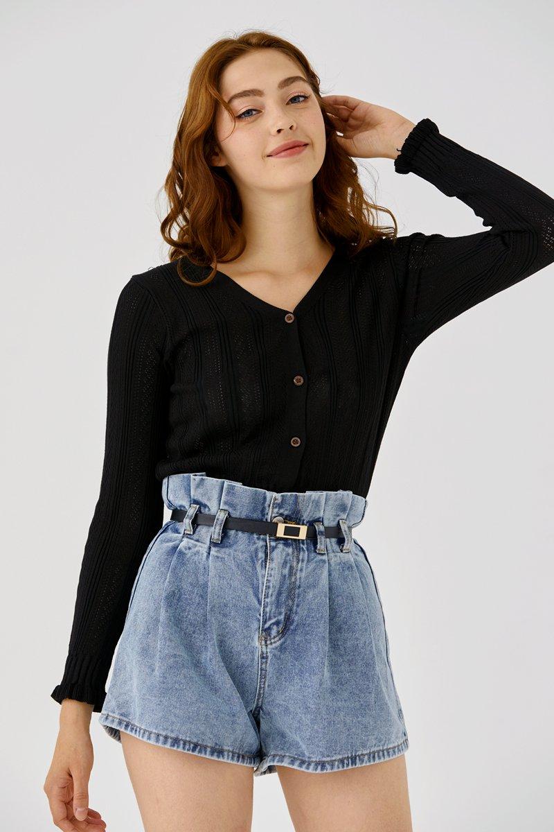 [BACKORDER] Milena Knit Top Black