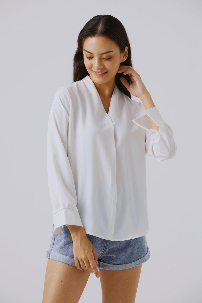 Natelle Relaxed Shirt Ivory