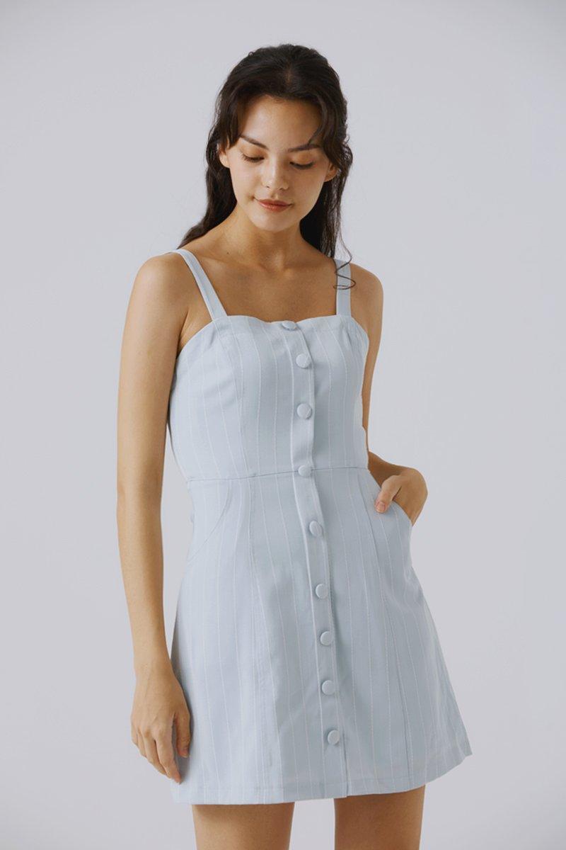 Emerlyn Striped Dress Mint