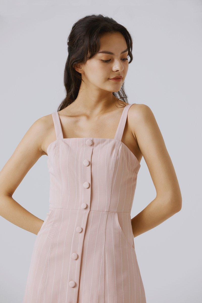 Emerlyn Striped Dress Blush