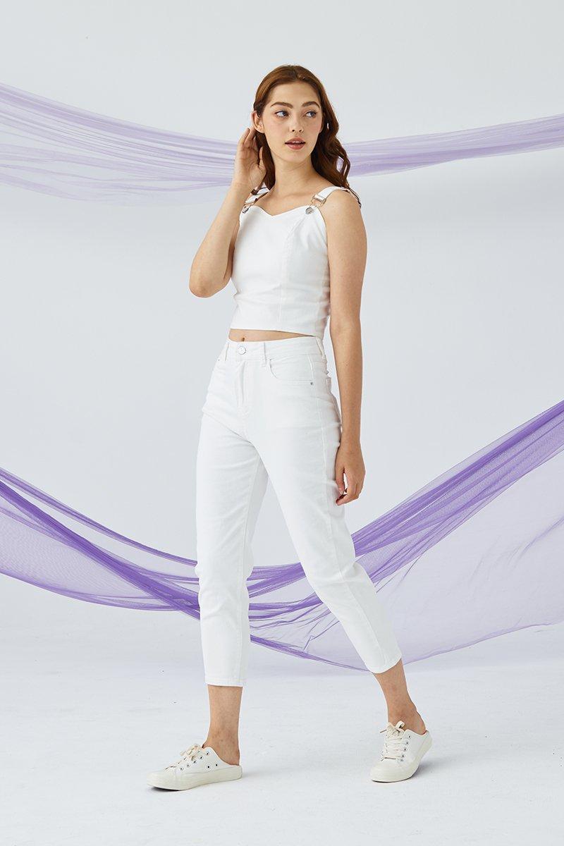 Otelia Denim Jeans Ivory