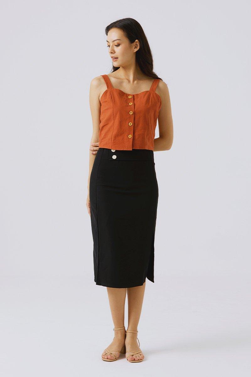 Genevie Midi Skirt Black
