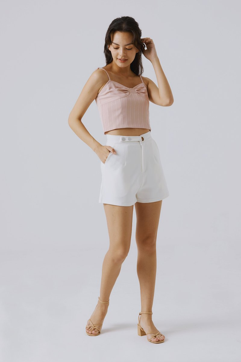 Emerlyn Striped Crop Top Blush