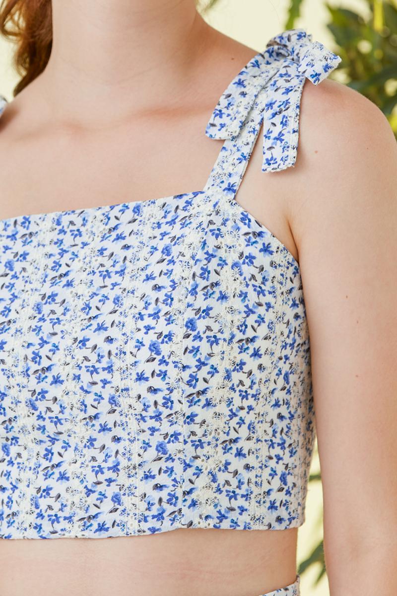 Taya Floral Dress Set Cobalt