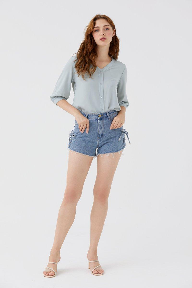 Odesse Denim Shorts Dark Wash