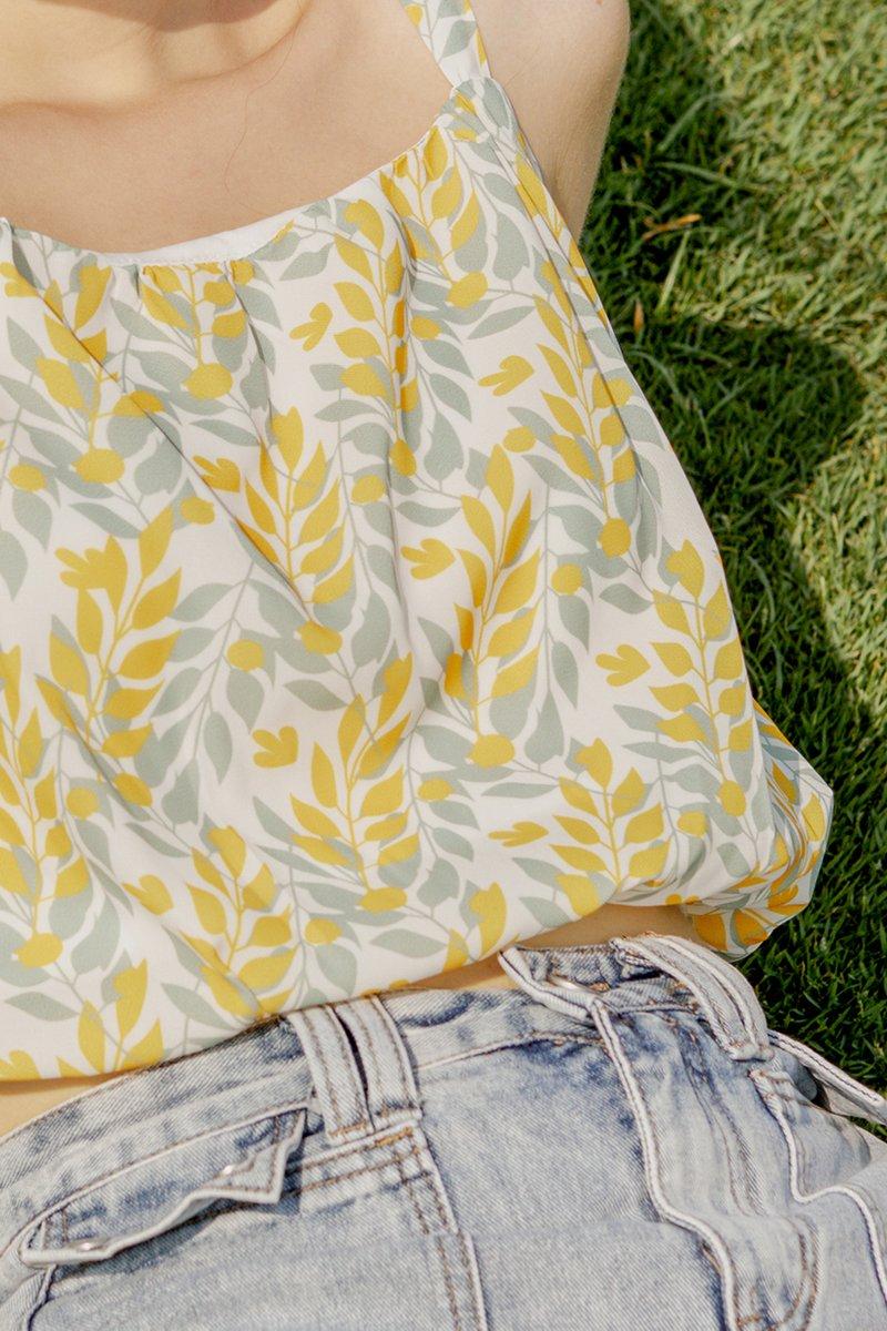 Ryla Printed Top Daffodil
