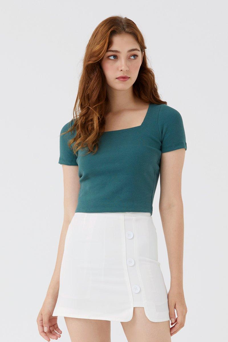 Gisella Button Skirt Ivory