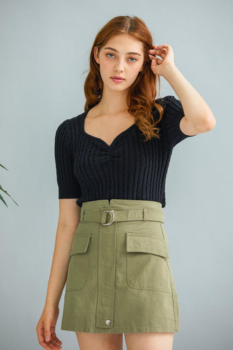 Kael Knit Top Black