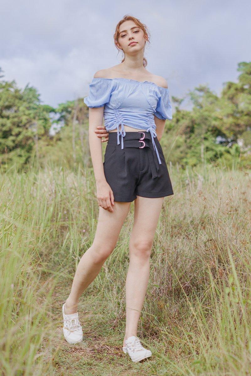 Delany Paperbag Shorts Black