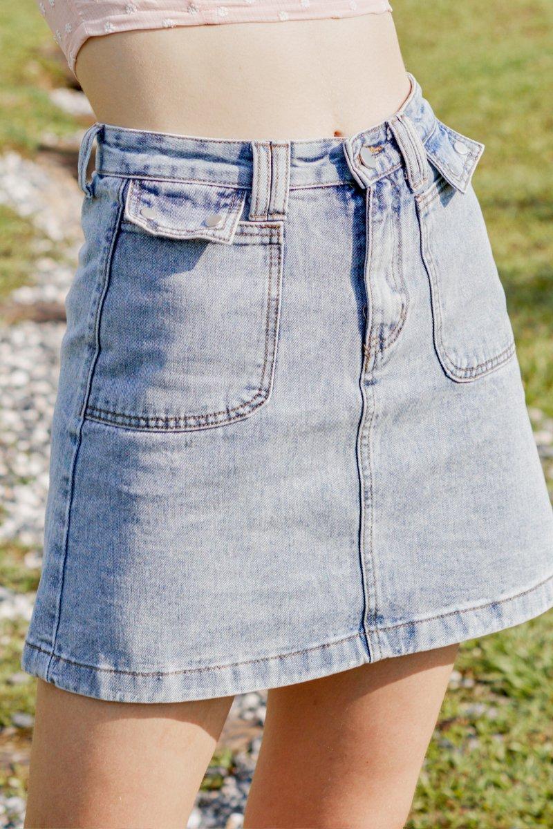 Danna Denim Skirt Light Wash