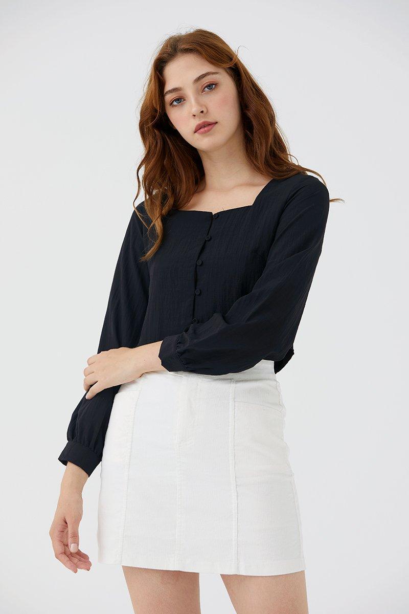 Quilla Corduroy Skirt Ivory