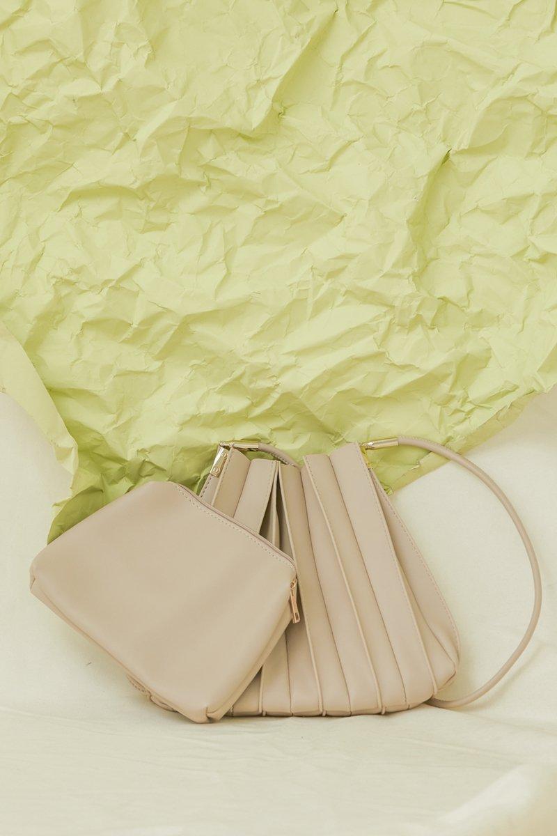 Casie Pleated Bag Nude