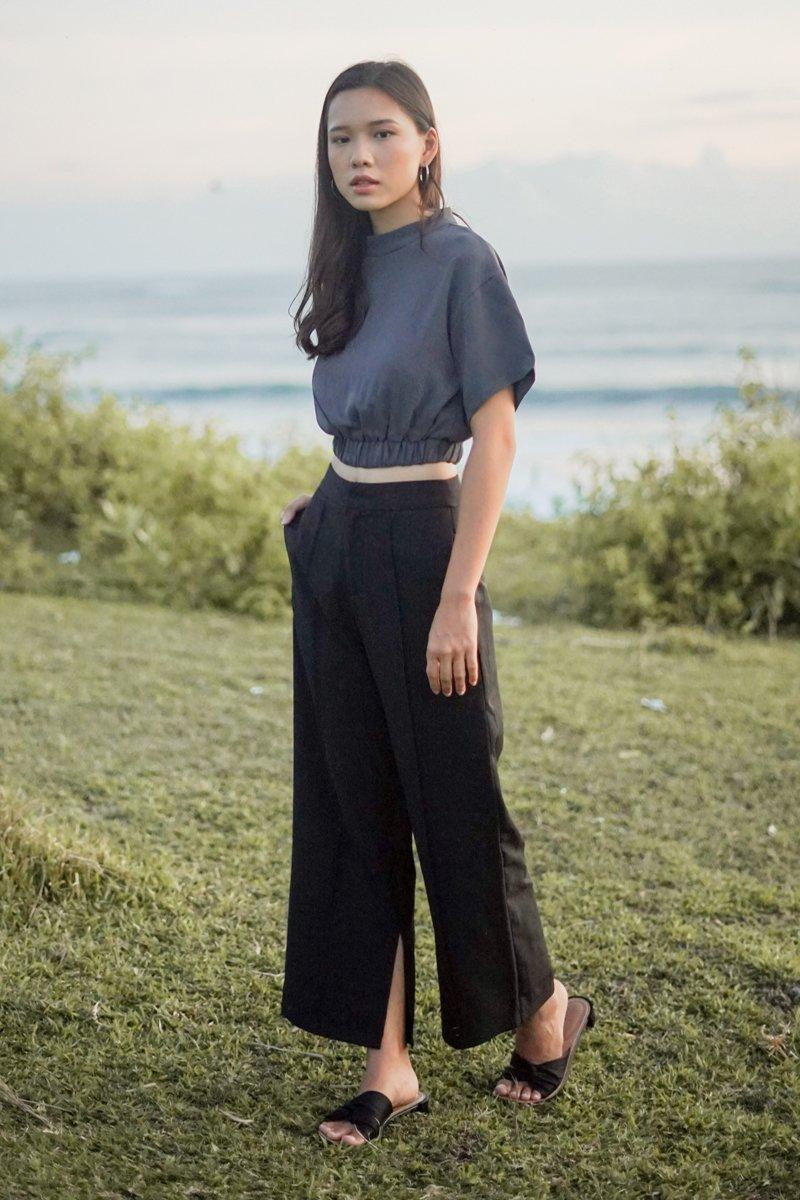 Keria High-cut Top Grey