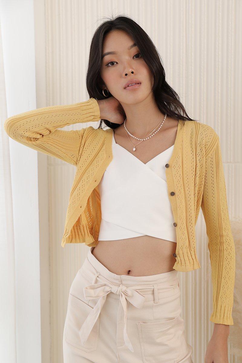 Milena Knit Top Mustard