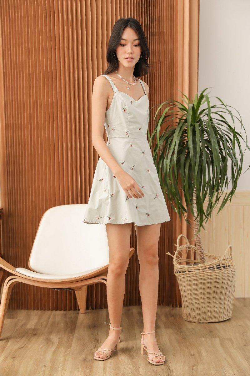 Rosie Floral Dress Mint