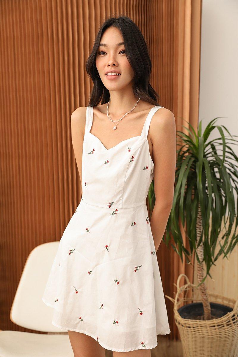 Rosie Floral Dress Ivory