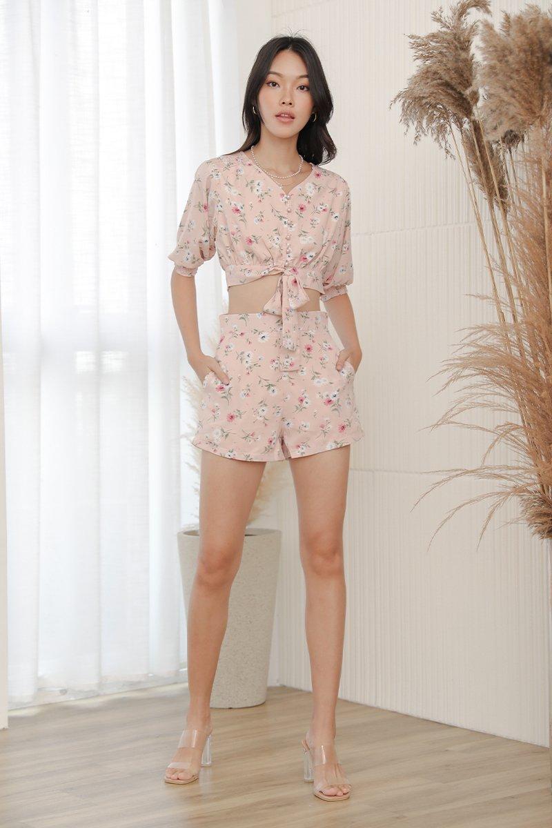Hariett Floral Flare Shorts Blush
