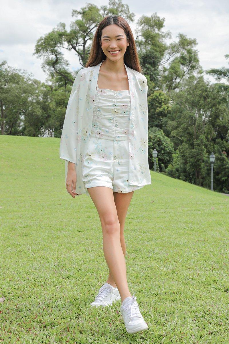 Zinnia Drop Shoulder Kimono Ivory