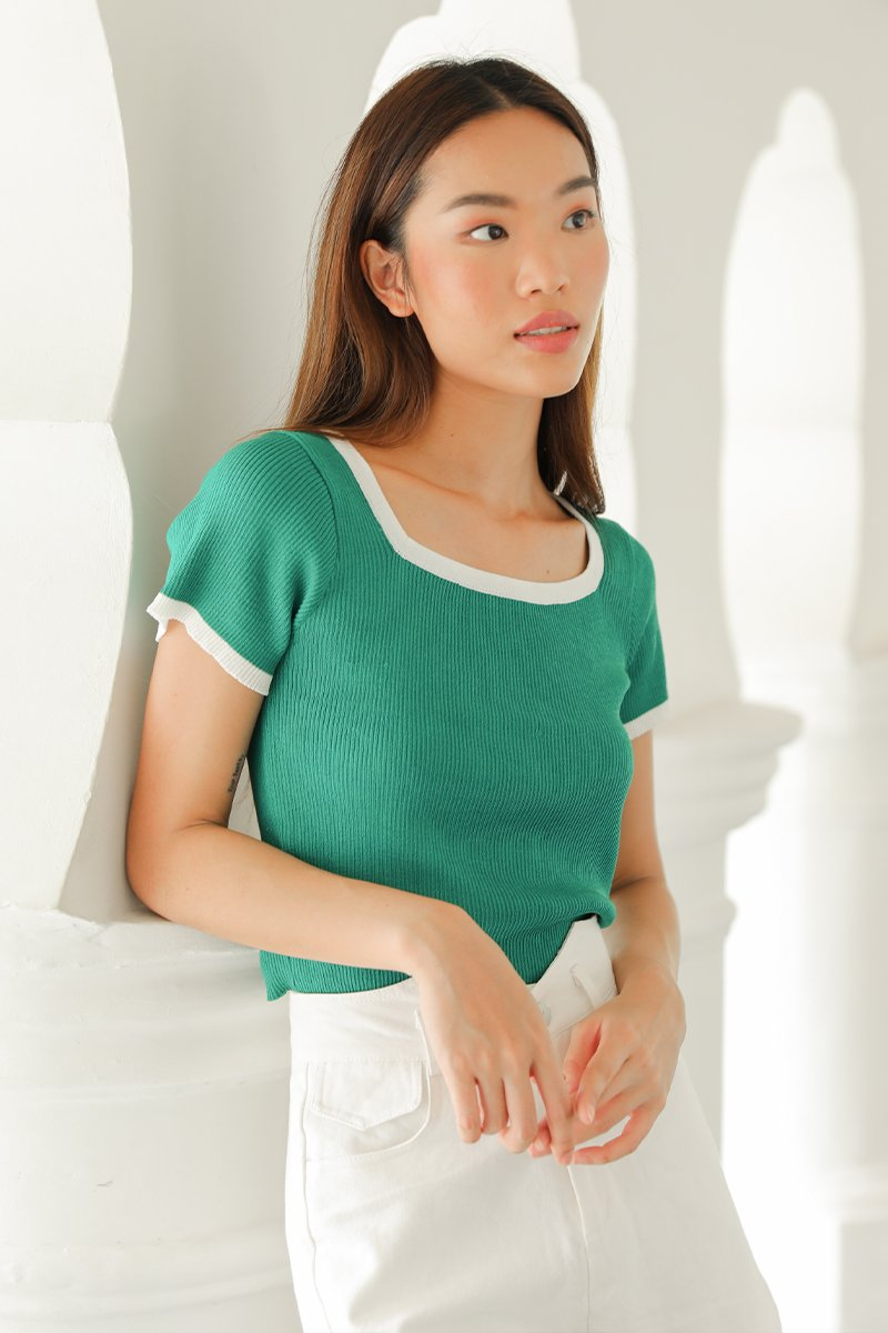 Jane Knit Top Forest