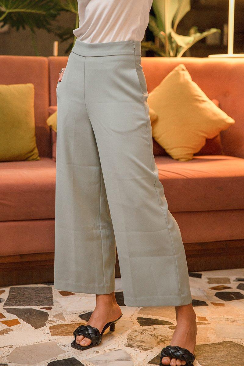 Mayven Straight Leg Long Pants Sage