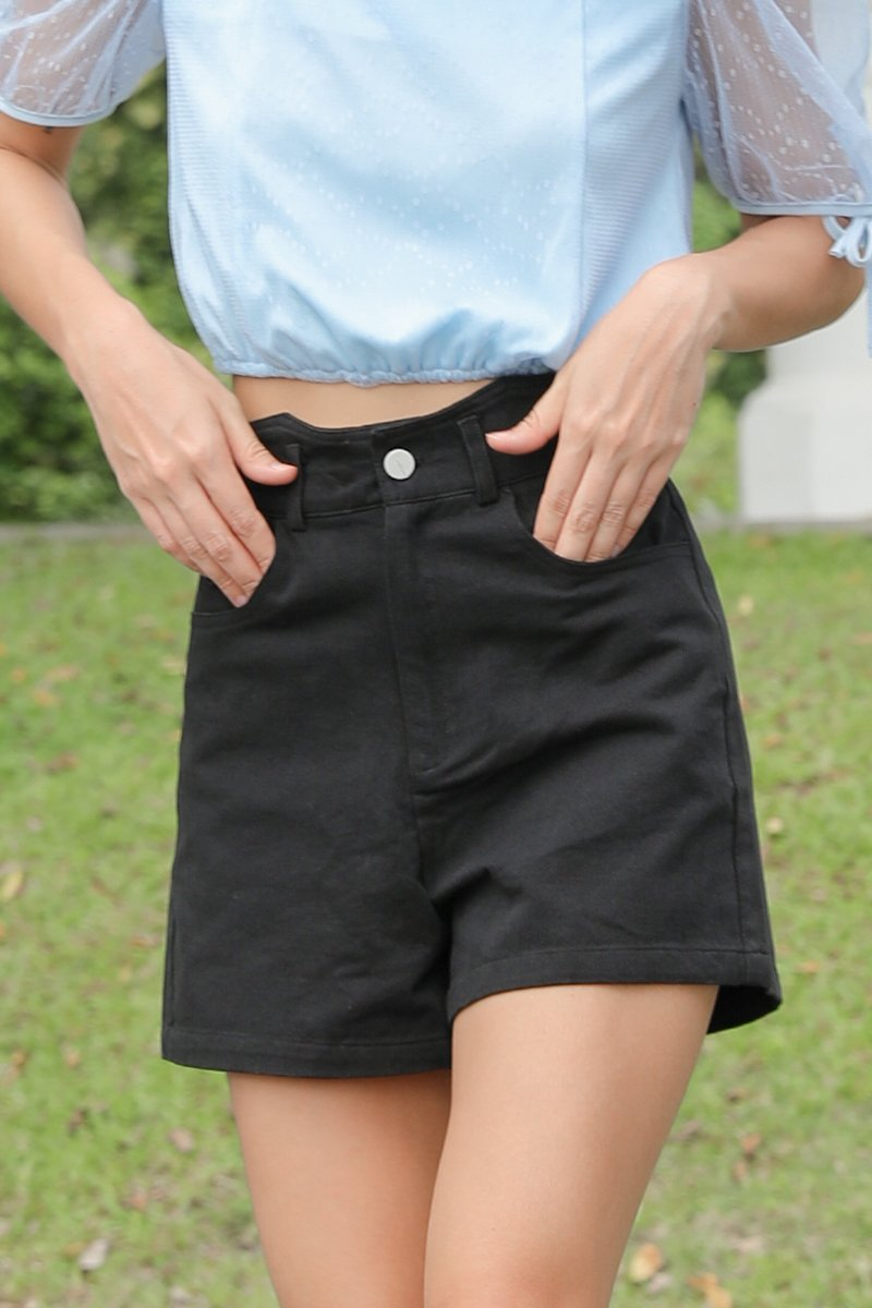Raiden High Waisted Shorts Black