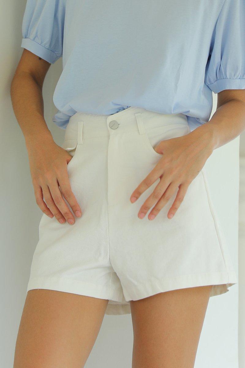 Raiden High Waisted Shorts Ivory