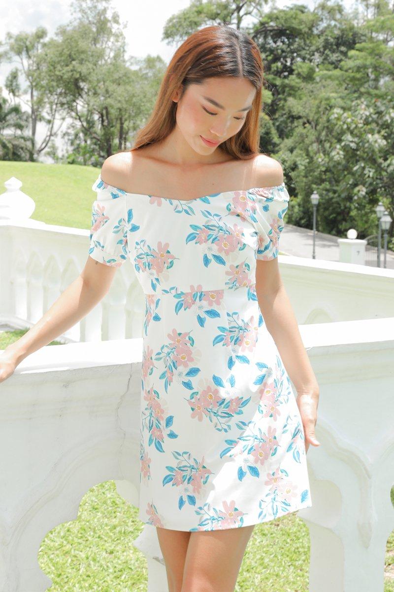 Mila Laced Back Dress Ivory