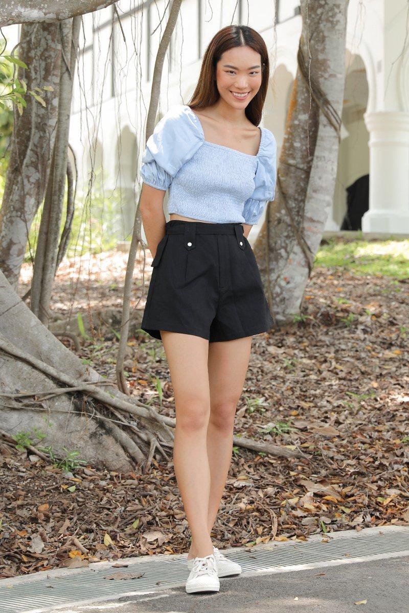 Femi Belted A Line Shorts Black